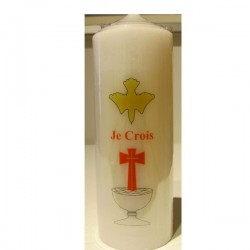 "Cierge ""Je croix"""