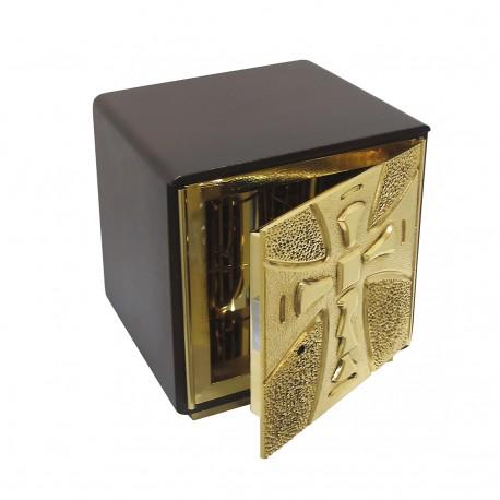 Tarbenacle bois et bronze H21xL20xP19