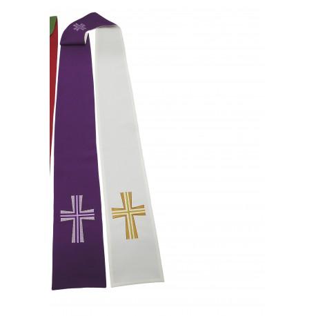 Etole pour prêtre réversible