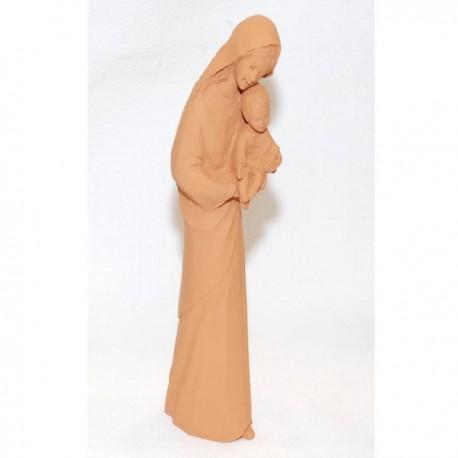 Notre Dame en Résine ton terre cuite 25 cm
