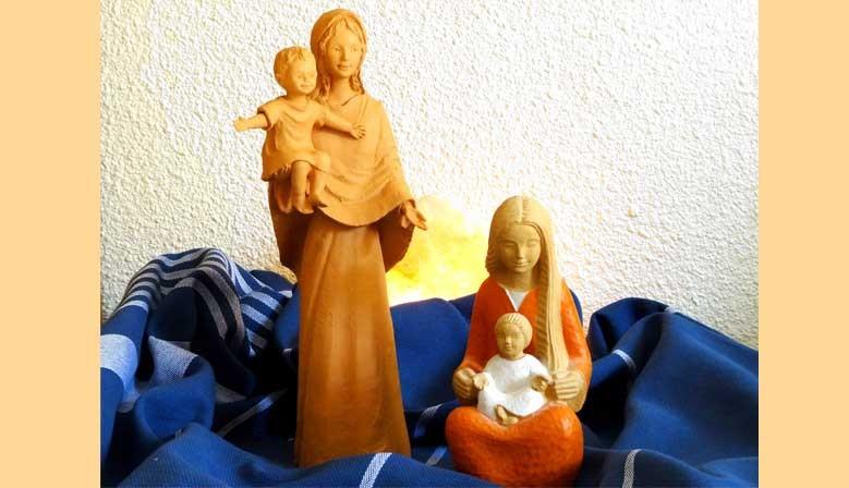 différentes statues
